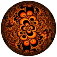 fractals ball abstract color