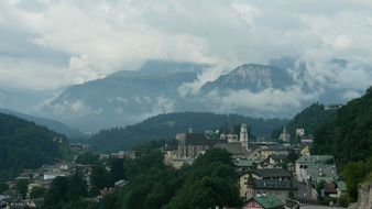 panoramic view of the city among the mountains in southern Germany