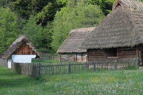 Open air museum in village in Poland