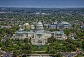 aerial view of the capitol in washington