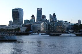 Landscape of the waterfront in London