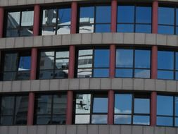 building with panoramic windows in tel aviv