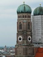 tower of the gothic cathedral in munich