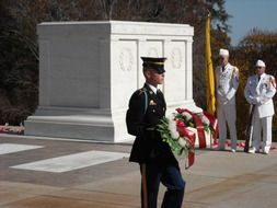 guard near the tomb of the unknown soldier