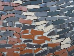 brown shades mosaic