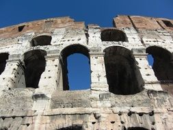 Historical colosseum in Rome italy