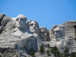 Mount rushmore of american presidents in national park