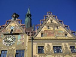 Facade of town hall in ulm Germany