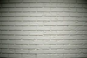 White brick wall structure