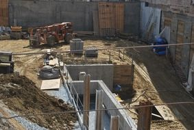 panoramic view of the construction site under the bright sun