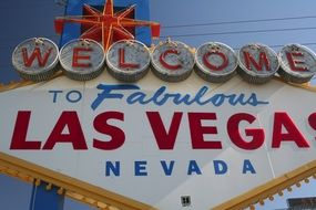 sign las vegas city welcome usa
