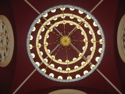 huge chandelier as part of the decor