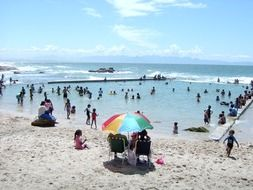White sandy beach in Cape Town