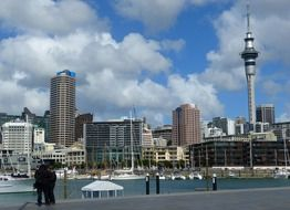 Landscape of sky tower in Auckland