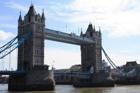 tower bridge across thames river at sky, uk, england, london
