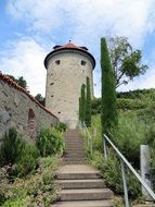 tower near lake constance