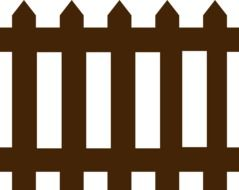 picket fence brown wood wooden