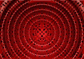 Red background pattern in the form of rings