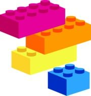 bright lego building blocks