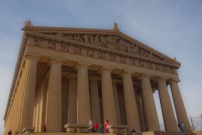 Historical Parthenon monument made of stone