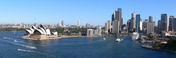 Beautiful harbor of Sydney Australia