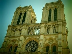 Notre Dame is a gothic cathedral in Paris