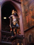statue Lucius Munatius Plancus in basel city hall