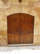 half-timbered wooden door