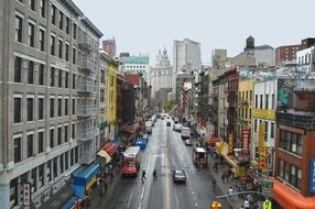panoramic view of a chinese street in manhattan