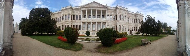 panoramic view of the palace
