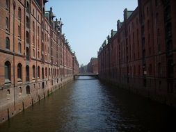 Canal and buildings in Hamburg