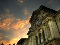 buildings of the art museum at sunset, switzerland