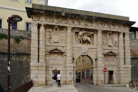 beautiful aged city gate, croatia, zadar