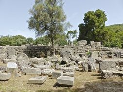 ruins olympia ancient greece