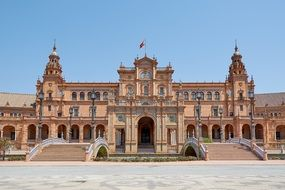 Beautiful palace of regional parliament in Spain