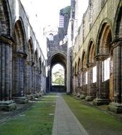old church ruins like arches