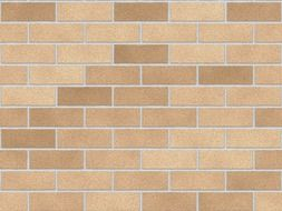 art design of brick wall in beige colours