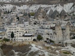 panoramic view of the ancient city in cappadocia