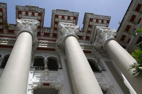 White greek columns