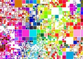 A lot of colorful squares