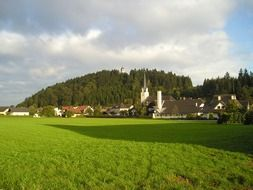 village buildings