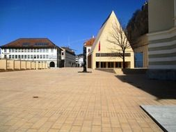 Square of Parliament in the Principality of Liechtenstein