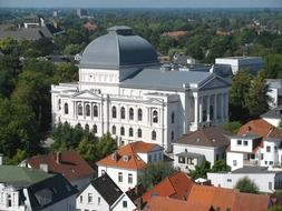 city theatre top view, germany, oldenburg