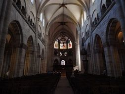 View from inside the Basel Cathedral