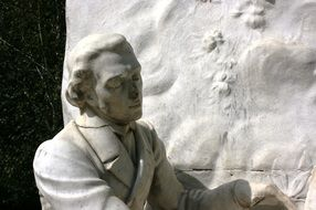 Picture of chopin sculpture