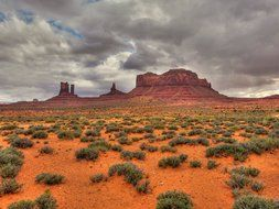 desert in Monument Valley, usa