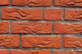 Red hauswand stone wall modern