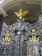 winter palace welded fence gate, russia, st petersburg