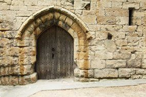 Doors in a stone arch