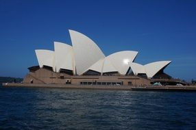 View from the water to the building of the Sydney Opera House